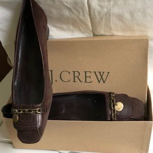 Jcrew suede loafers